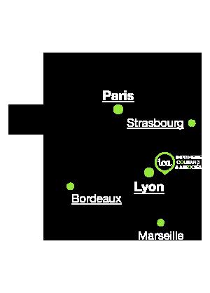 Plan de situation ICA sur la carte de France