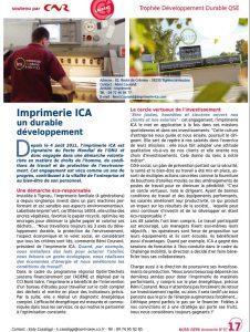 Article Nord Isère Economie - Imprimerie Courand et Associés